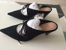 Zara Woman Trafaluc Tied Backless High Hell Shoes New Size 36 Free Ship
