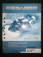 1999 Bombardier Sea Doo Parts & Accessories Catalog Manual GSX 5848 5849 Lmtd