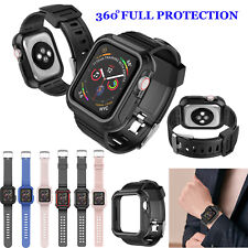 For Apple Watch Series SE/6/5/4/3/2/1 Rugged Case + Strap Bands 44/40/42/38mm
