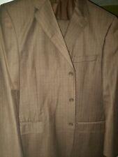 Talazzi Mens Brown Pinstripe Suit 50L