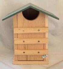 New ListingJcs Wildlife Screech Owl or Saw-Whet Owl House Cedar Nesting Box with Poly Roof