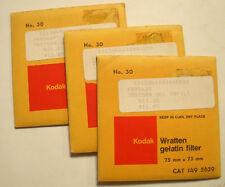 Kodak wratten GELATINA Filtro No 30 7.6cm OR 75mm CUADRADO SIN ABRIR