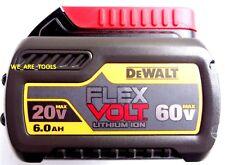 1 NEW GENUINE Dewalt Flexvolt 60V DCB606 6.0 AH Battery For Drill, Saw 20 Volt
