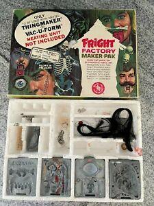 Vintage Fright Factory Maker Pak with 8 Molds Mattel 1966 No 4523