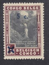 Belgian Congo 1941 - 5c on 1F 50c Black Maroon - SG242 - Mint Hinged (E15H)