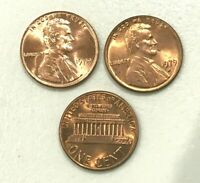 1979 P D  GRM RED UNCIRCULATED  LINCOLN CENTS (2 COINS)