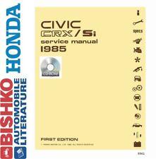 1985 Honda Civic SI CRX Shop Service Repair Manual CD Engine Drivetrain Wiring