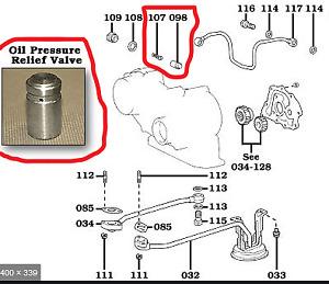 OVERSIZE OIL PRESSURE RELIEF VALVE FITS TOYOTA 2H ENGINES - LANDCRUISER COASTER
