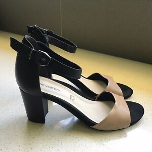 Gino Ventori Heels Sandals 42 Near New Leather Ankle Straps P/U Blackburn N Avai