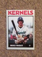 Mike Trout Minor League Rookie Card # 28 Cedar Rapids Kernels
