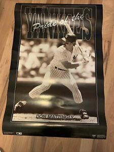 Vintage 1991 Don Mattingly Pride Of The Yankees Poster Sepia New York 24x36