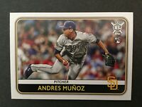 2020 TOPPS BIG LEAGUE BASEBALL #110 ANDRES MUNOZ ROOKIE CARD SAN DIEGO PADRES