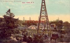 1911 In The Heart Of Oil Country, Near Olean, Ny horsedrawn buggy at derrick