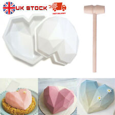 NEW 3D Silicone Large Heart Cake Chocolate Mould Home DIY Baking Mold Tools Set