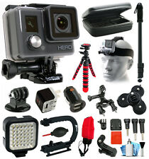 GoPro HD HERO Action Camera + Light + Case + LED + xGrip + Selfie Stick
