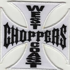 Iron on Patch Embroidered Application West Coast Chopper White iron cross -a4k1