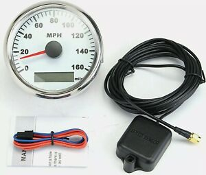 85mm Digital Curved Glass GPS Speedometer 160MPH Gauge for Car Truck Motorcycle