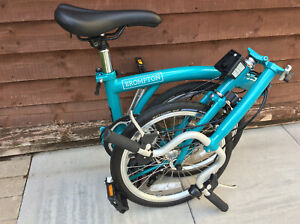 BROMPTON B75 M3E BLUE FOLDING BICYCLE BIKE CYCLE NEW - WORLDWIDE