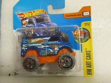 HOT WHEELS 2017 161/365  ART CARS 5/10 MONSTER DAIRY DELIVERY NEW ON CARD