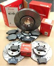 LEON IBIZA AUDI TT A3 GOLF MK4 BREMBO FRONT REAR DRILLED GROOVED BRAKE DISCS PAD