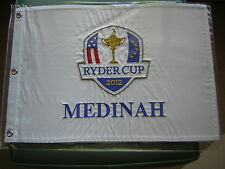 "2012 RYDER CUP GOLF PIN FLAG MEDINAH COUNTRY CLUB 20 X 14"" EMBROIDERED"