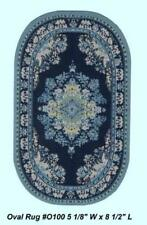 """OVAL WOVEN RUG 5 1/8"""" X 8 1/2"""" DOLL HOUSE FURNITURE"""