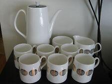 Retro Mid Century Modern Queen Anne China Coffee Cocoa Set