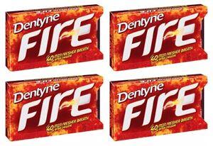 4x Dentyne Fire Spicy Cinnamon Flavor Sugar-Free Gums American Sweets