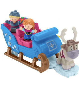 Fisher-Price Disney Frozen Kristoff's Sleigh by Little People, Figure and