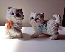HOMCO White Kitten Figurines (2) - # 1428 Ceramic EXC SEE PHOTOS