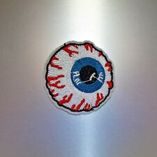 Eyeball Patch — Iron On Badge Embroidered Motif — Biker Punk Eye Ball