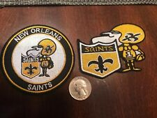 (2) New Orleans Saints embroidered vintage Iron on Patches Patch lot