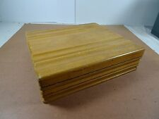 Vintage Danish Blonde Light Wood Chest Storage Box Sculptured Lid And Sides