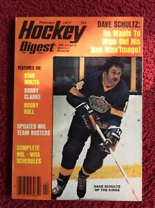NO LABEL Hockey Digest February 1977 Dave Schultz Los Angeles Kings