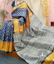 Gujarat Cotton Saree For Women`s Printed Hand Block Cotton Soft Malmal Saree