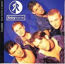"BOYZONE Love Me For A Reason PICTURE SLEEVE 7"" 45 record + juke box strip RARE!"
