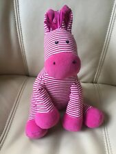Little JellyCat skiddle Pony Caballo Suave Juguete Musical Tire rayas en rosa