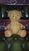 Old Rare Antique Vintage jointed mohair Pedigree teddy bear with growler 1930s