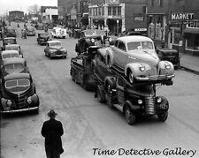 Vintage Auto Carrier Truck, Eufaula, Oklahoma - 1940 - Historic Photo Print