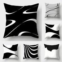 BG_ Abstract Black & White Throw Pillow Case Cushion Cover Sofa Car Cafe Decor P