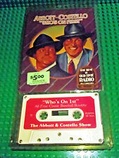 """Abbott & Costello's """"Who's on 1st"""" audio cassette Best of Old Time Radio 1979"""