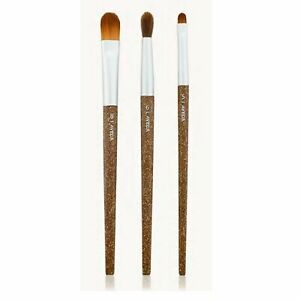 AVEDA NIB Flax Sticks Special Effects Brush Set of 3 Brushes (eye and complexion