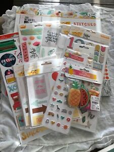 Amy Tangerine Collection Lot Stickers Embellishments Paper-pad