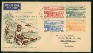 Mayfairstamps New Hebrides FDC 1957 Landscape Combo Vila First Day Cover wwp_511