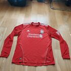 Mens adidas Liverpool long sleeves Home football shirt 2010 - 2012 Size L