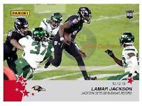 2019 Lamar Jackson Panini Instant #136 sets QB Rushing record on TNF MVP /164