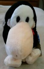 """Vintage 1984 Dakin Opus Sitting 8"""" Plush With Tags Bloom County Penguin RARE HTF"""