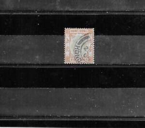 HONG KONG 1904. KING EDWARD V11. 5 CENT. ORANGE/GREEN. USED. AS PER SCAN