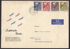 Berlin Schwarzaufdruck 1948  9 Luftbrücken Belege Michel 1-20 Attest (S13099)