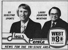 1981 Tv Ad~ED SEIELSTAD~LARRY JOHNSON~WKBT NEWS~ LA CROSSE,WISCONSIN~Eau Claire